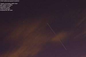International Space Station - ISS over Manchester